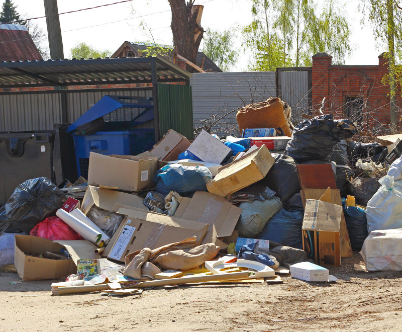 A huge pile of household rubbish
