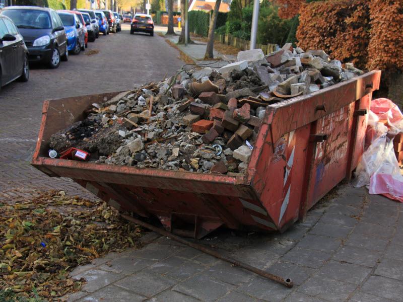 Loaded dumpster