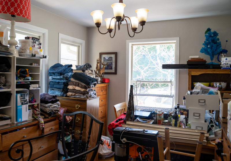 Lots of junk things inside a home
