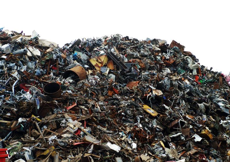 Pile of scrap metals