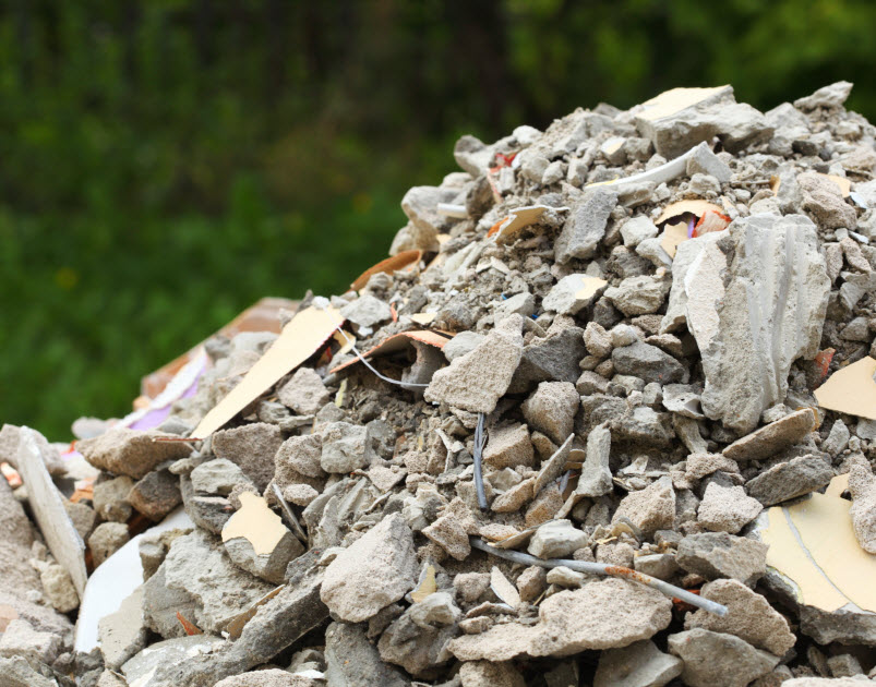 Pile of Broken concretes