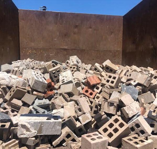 Loads of broken cement blocks