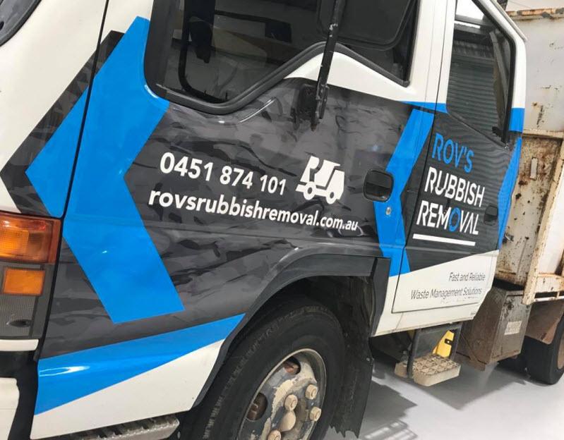 Rov's Rubbish removal truck