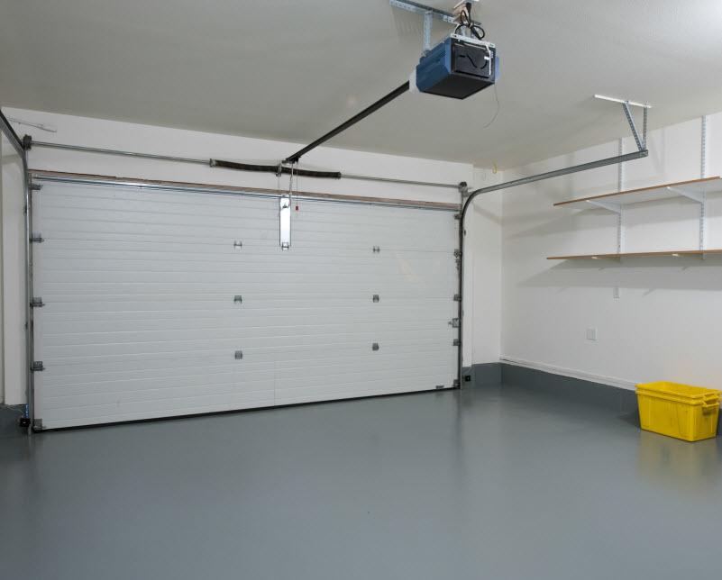 Clean empty garage